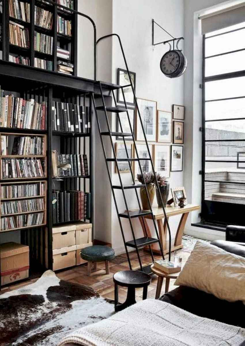 Cool home library design ideas (35)