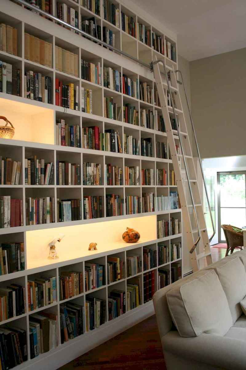 Cool home library design ideas (44)