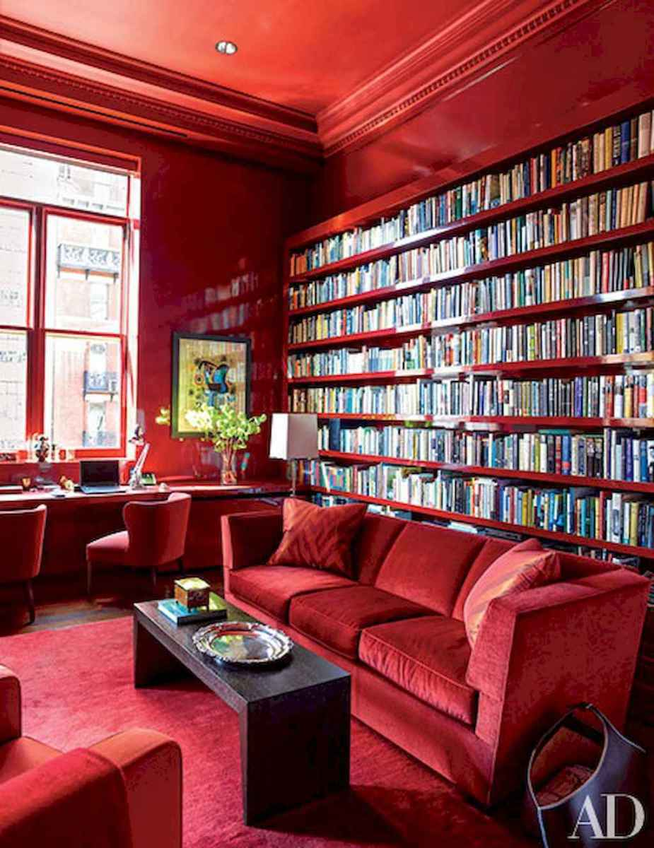 Cool home library design ideas (46)