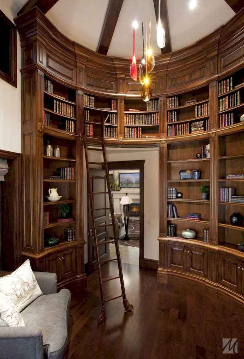 Cool home library design ideas (48)