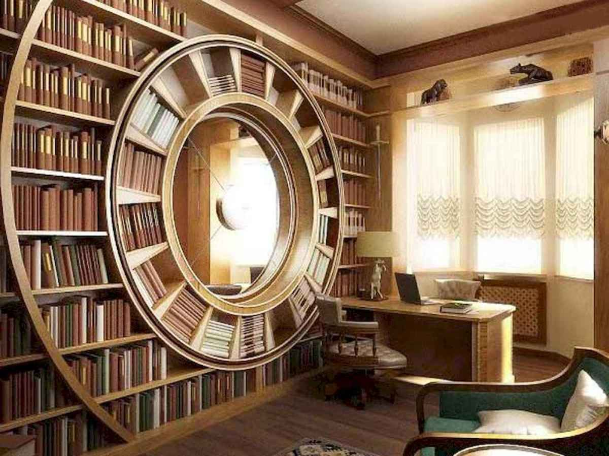 Cool home library design ideas (55)