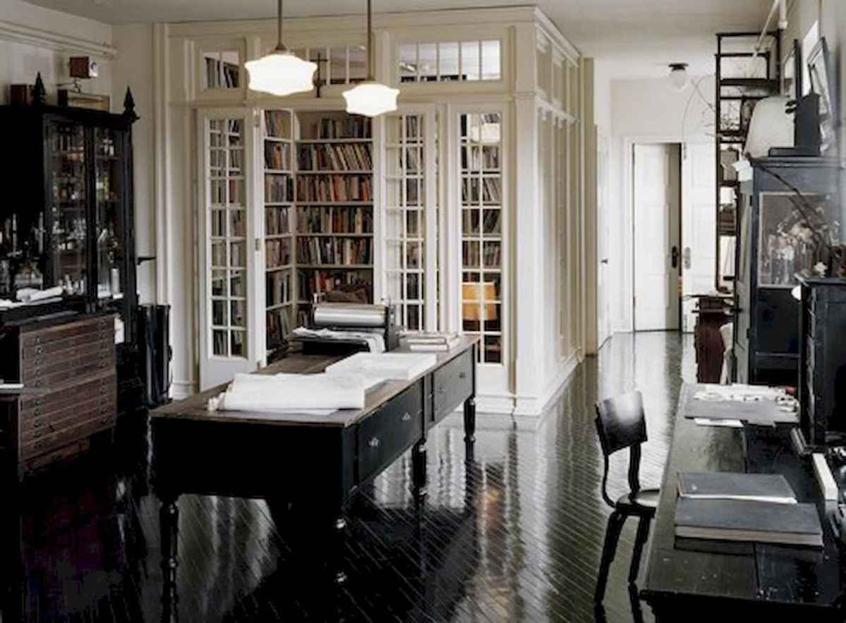 Cool home library design ideas (56)
