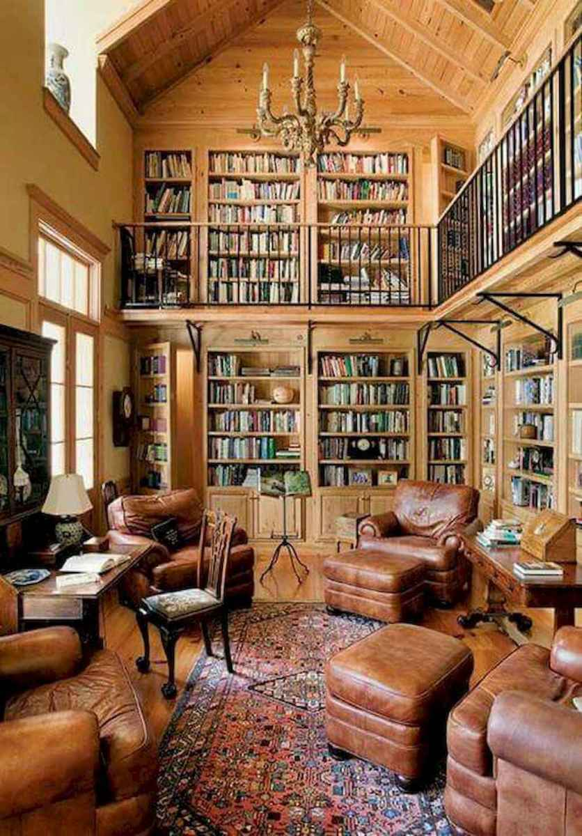 Cool home library design ideas (6)
