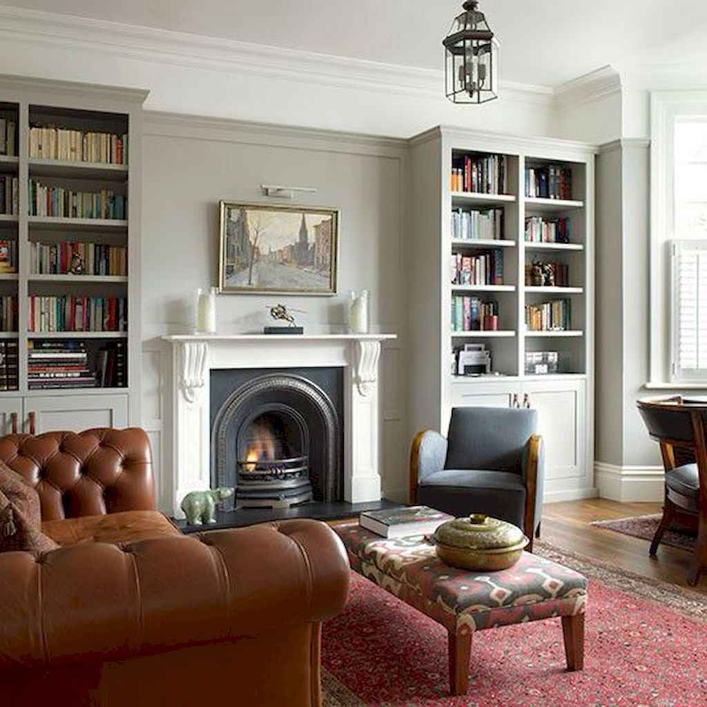Cool home library design ideas (60)