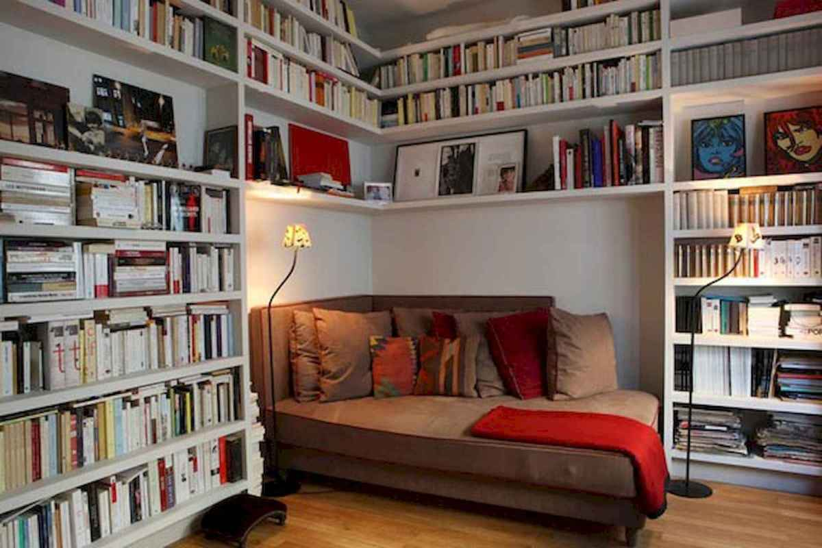 Cool home library design ideas (7)