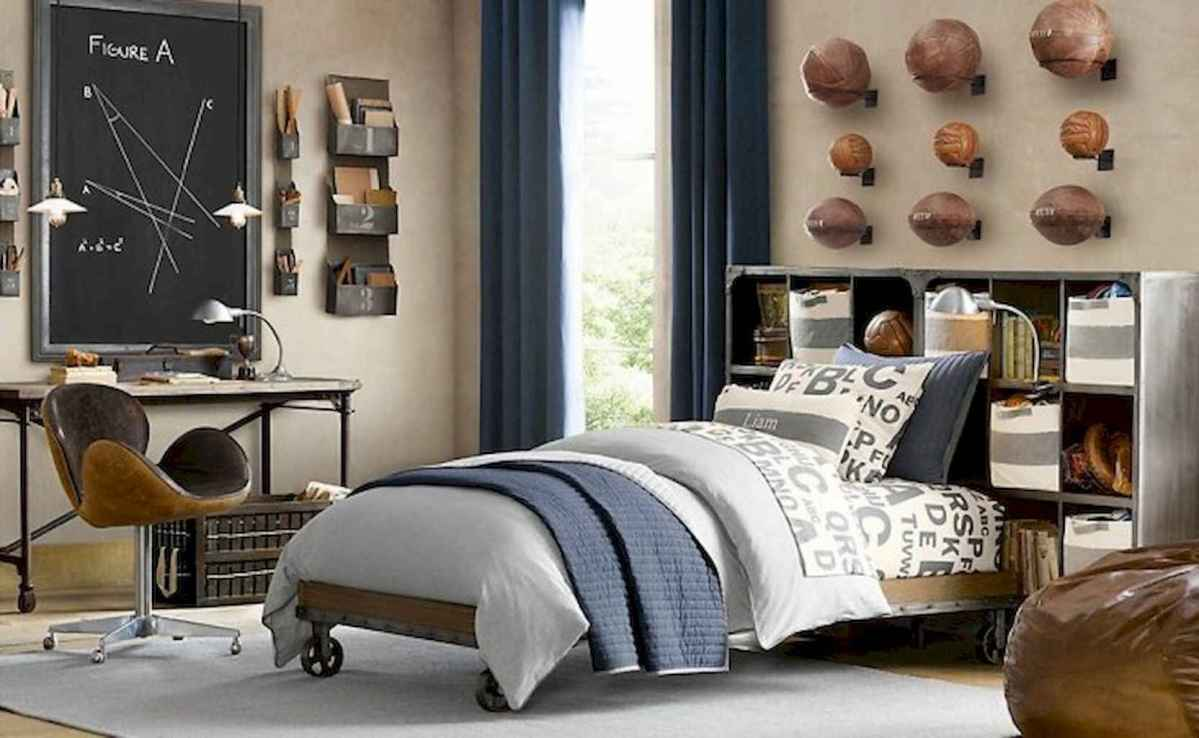 Cool sport bedroom ideas for boys (44)
