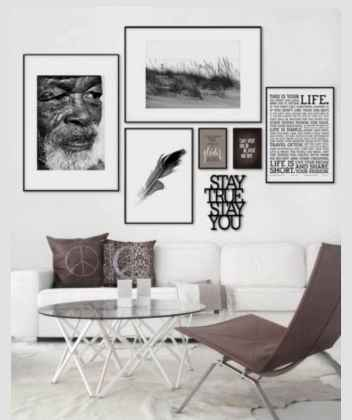 Inspired gallery wall living room (20)