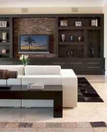 Unique tv wall living room ideas (28)