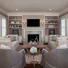 Unique tv wall living room ideas (46)