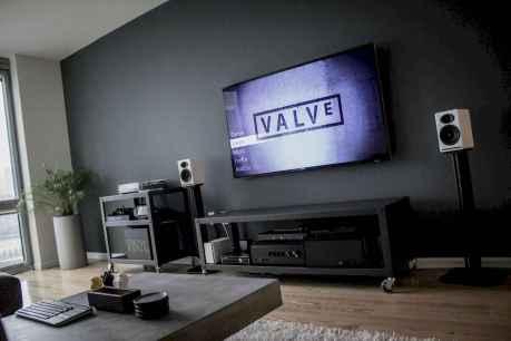 Unique tv wall living room ideas (53)