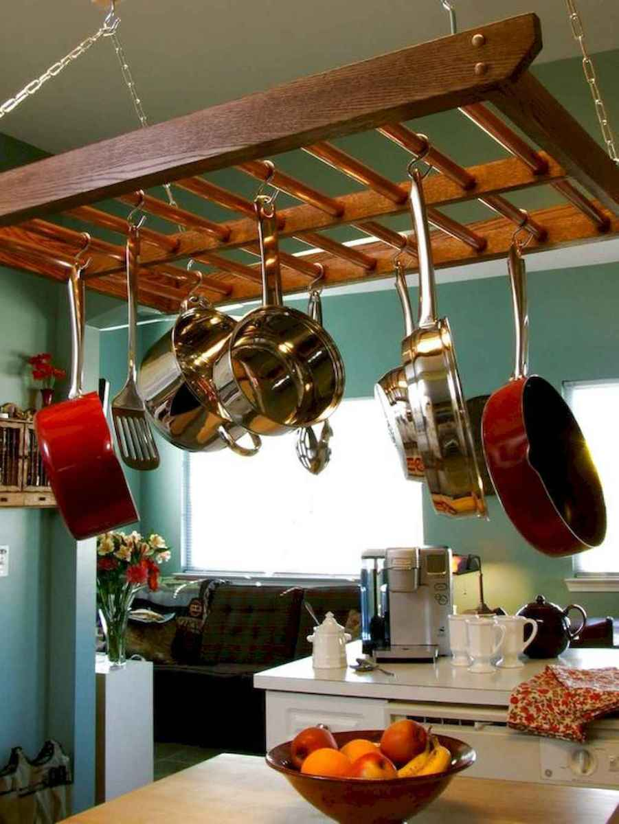120 DIY Farmhouse Kitchen Rack Organization Ideas (20)