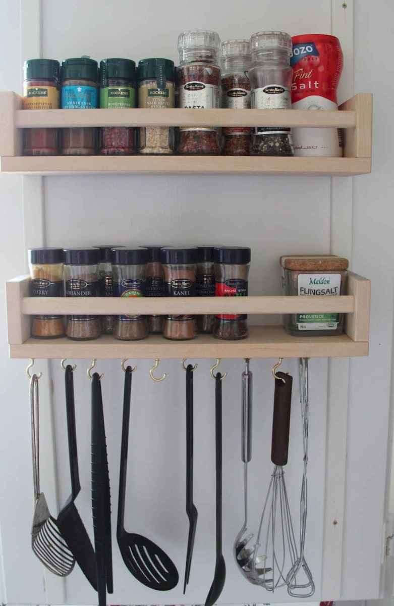 120 DIY Farmhouse Kitchen Rack Organization Ideas (38)
