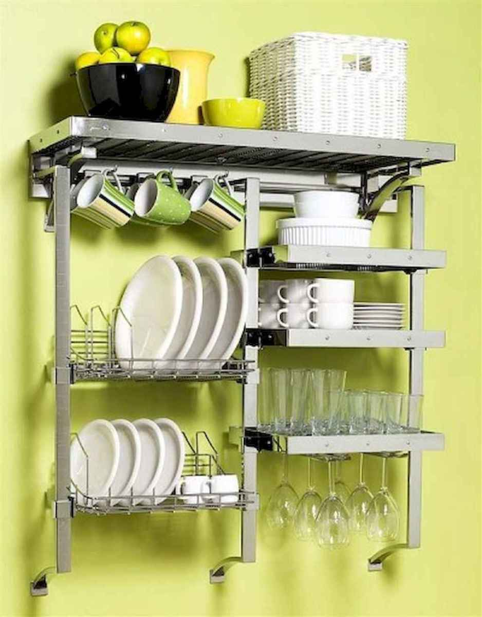 120 DIY Farmhouse Kitchen Rack Organization Ideas (98)