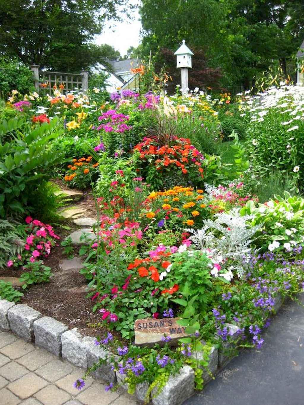 50 cheap and easy flower garden ideas (17)