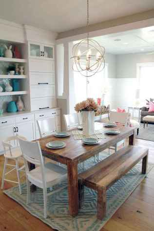 50 Modern Farmhouse Dining Room Decor Ideas (15)