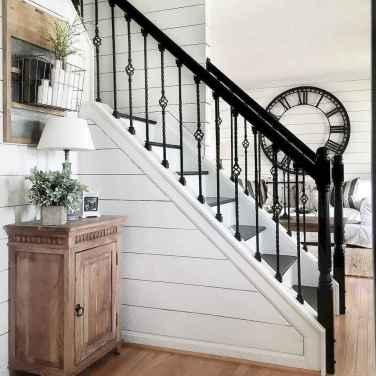 80 Modern Farmhouse Staircase Decor Ideas (25)