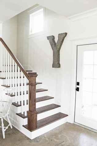 80 Modern Farmhouse Staircase Decor Ideas (74)