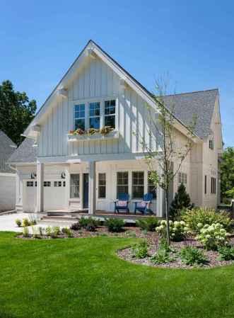 90 Modern American Farmhouse Exterior Landscaping Design (8)