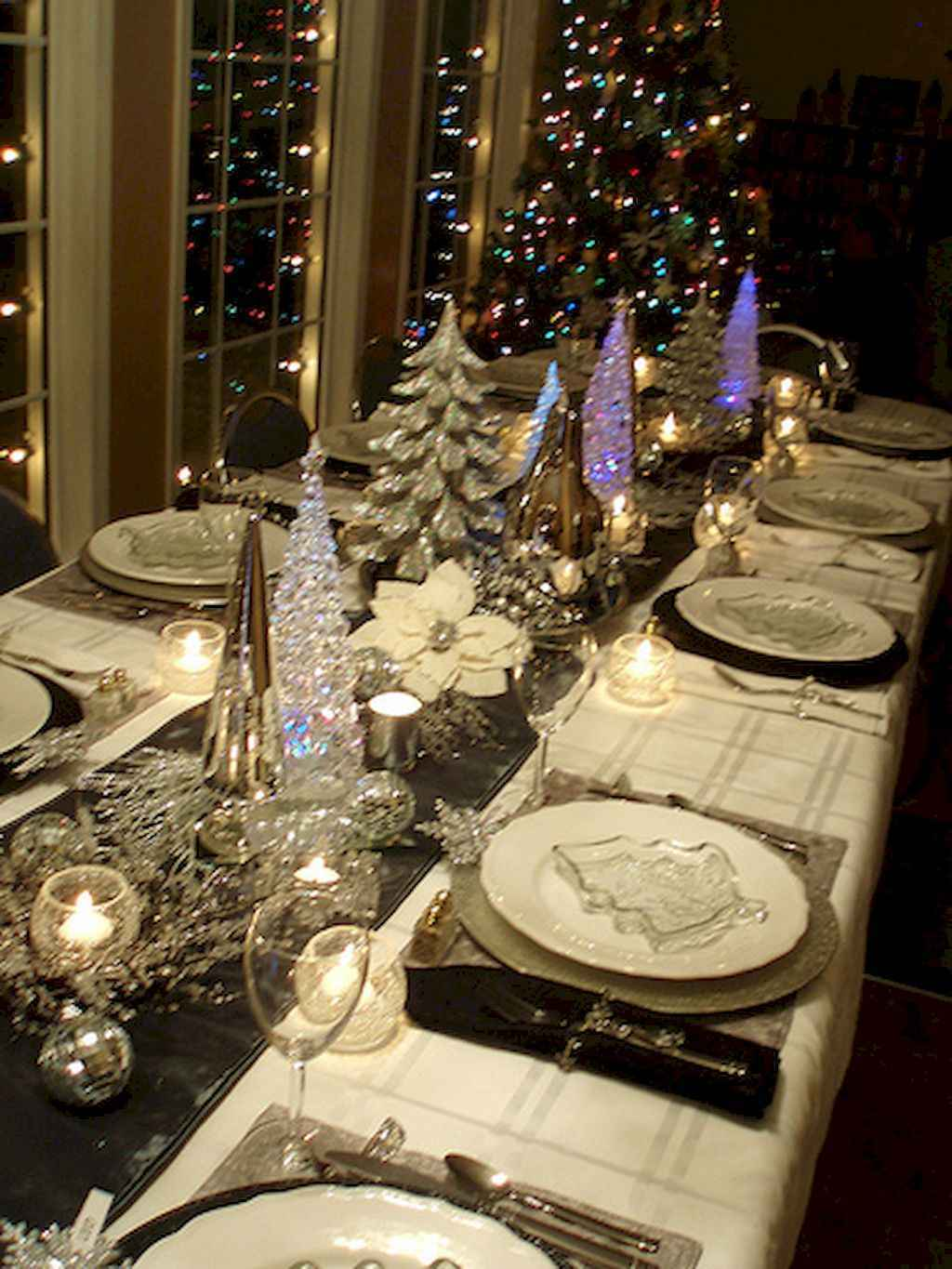 40 Awesome Christmas Dinner Table Decorations Ideas (2