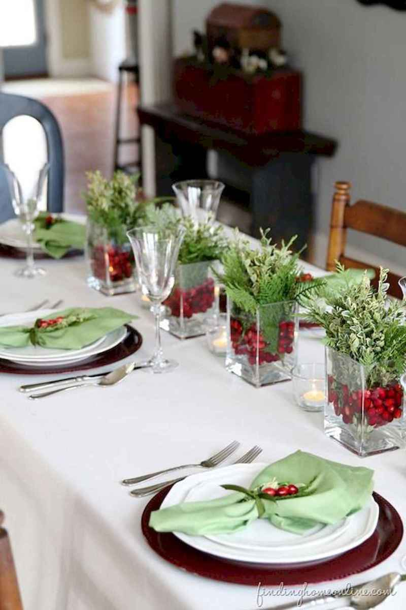 40 Awesome Christmas Dinner Table Decorations Ideas (20)