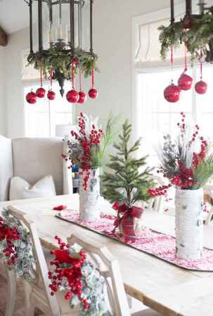 40 Awesome Christmas Dinner Table Decorations Ideas (36)