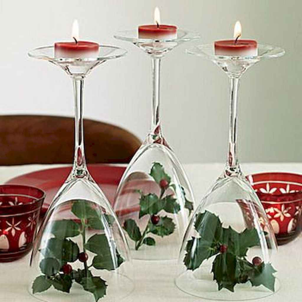 40 Awesome Christmas Dinner Table Decorations Ideas (8)