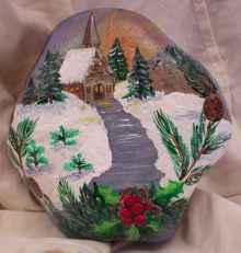 50 DIY Christmas Rock Painting Ideas (2)
