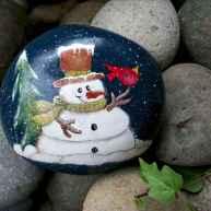 50 DIY Christmas Rock Painting Ideas (20)