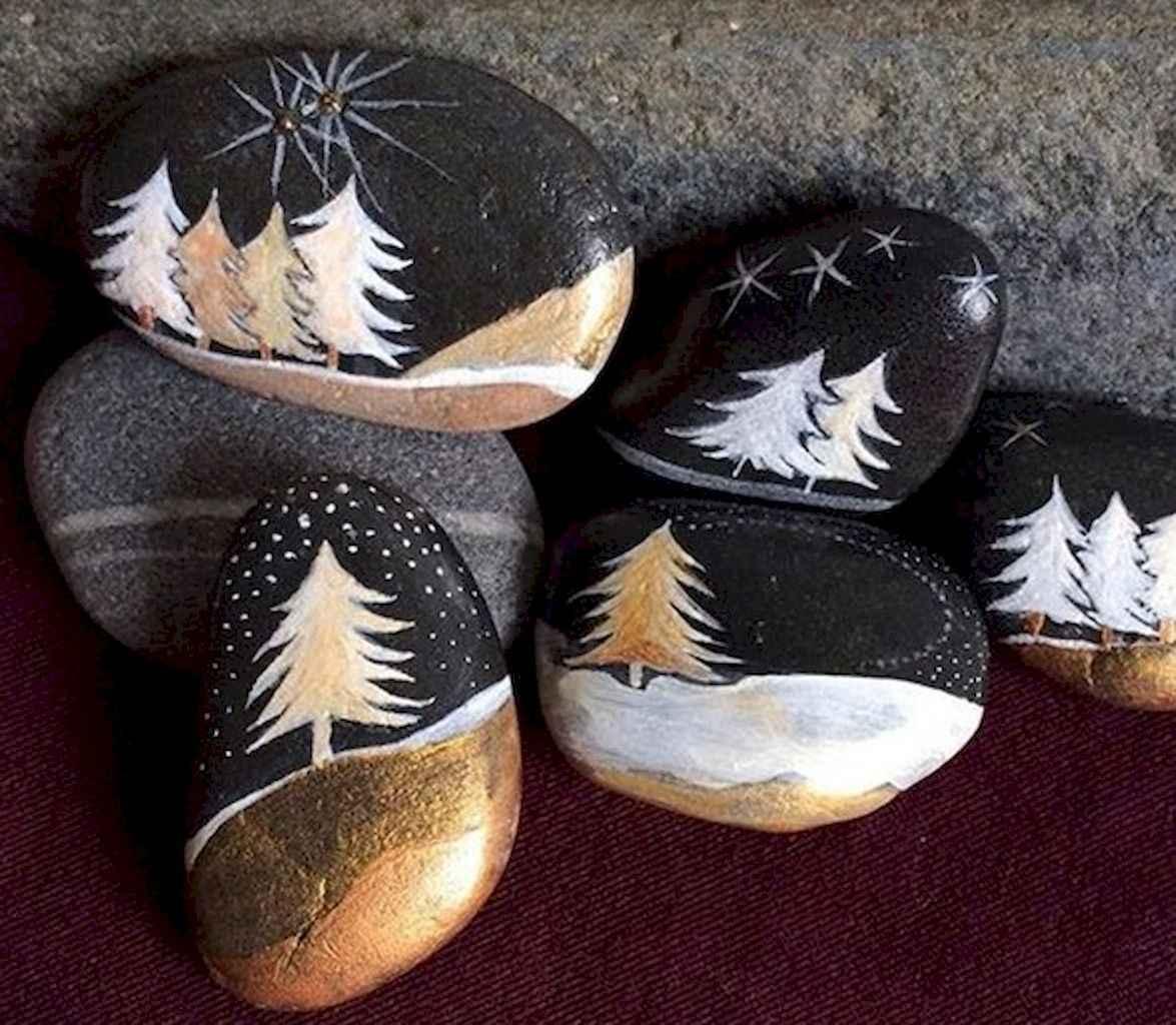 Christmas Rock Painting Images.50 Diy Christmas Rock Painting Ideas 48 Livingmarch Com