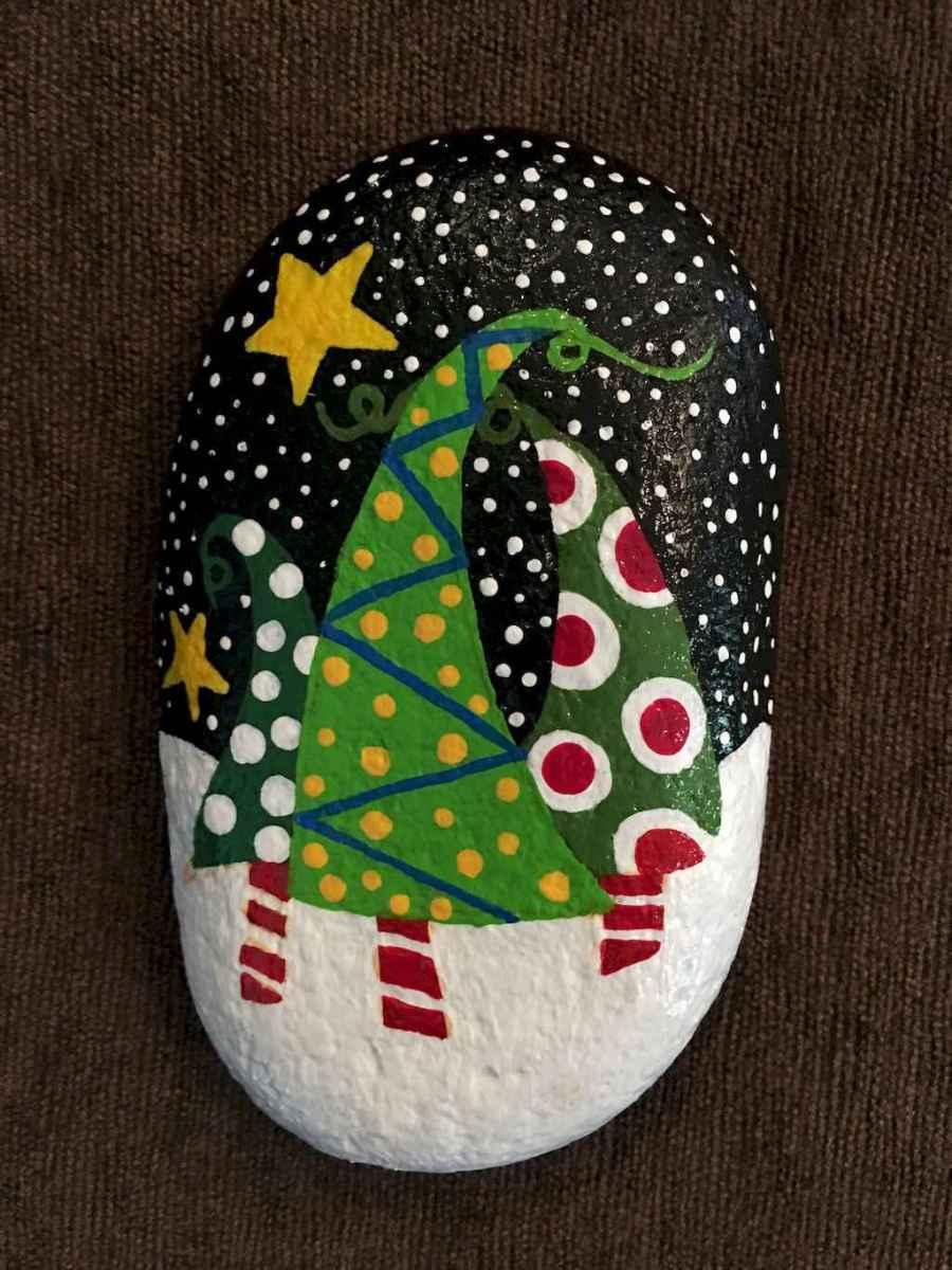 Christmas Rock Painting Designs.50 Diy Christmas Rock Painting Ideas 5 Livingmarch Com