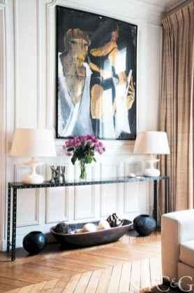 111 Beautiful Parisian Chic Apartment Decor Ideas (109)