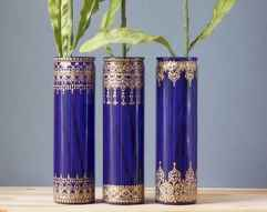 44 DIY Painted Ombre Vases Crafts Ideas On A BUdget (4)