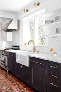 50 Fabulous Apartment Kitchen Cabinets Decor Ideas (20)