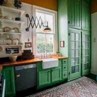 50 Fabulous Apartment Kitchen Cabinets Decor Ideas (27)