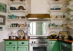 50 Fabulous Apartment Kitchen Cabinets Decor Ideas (36)