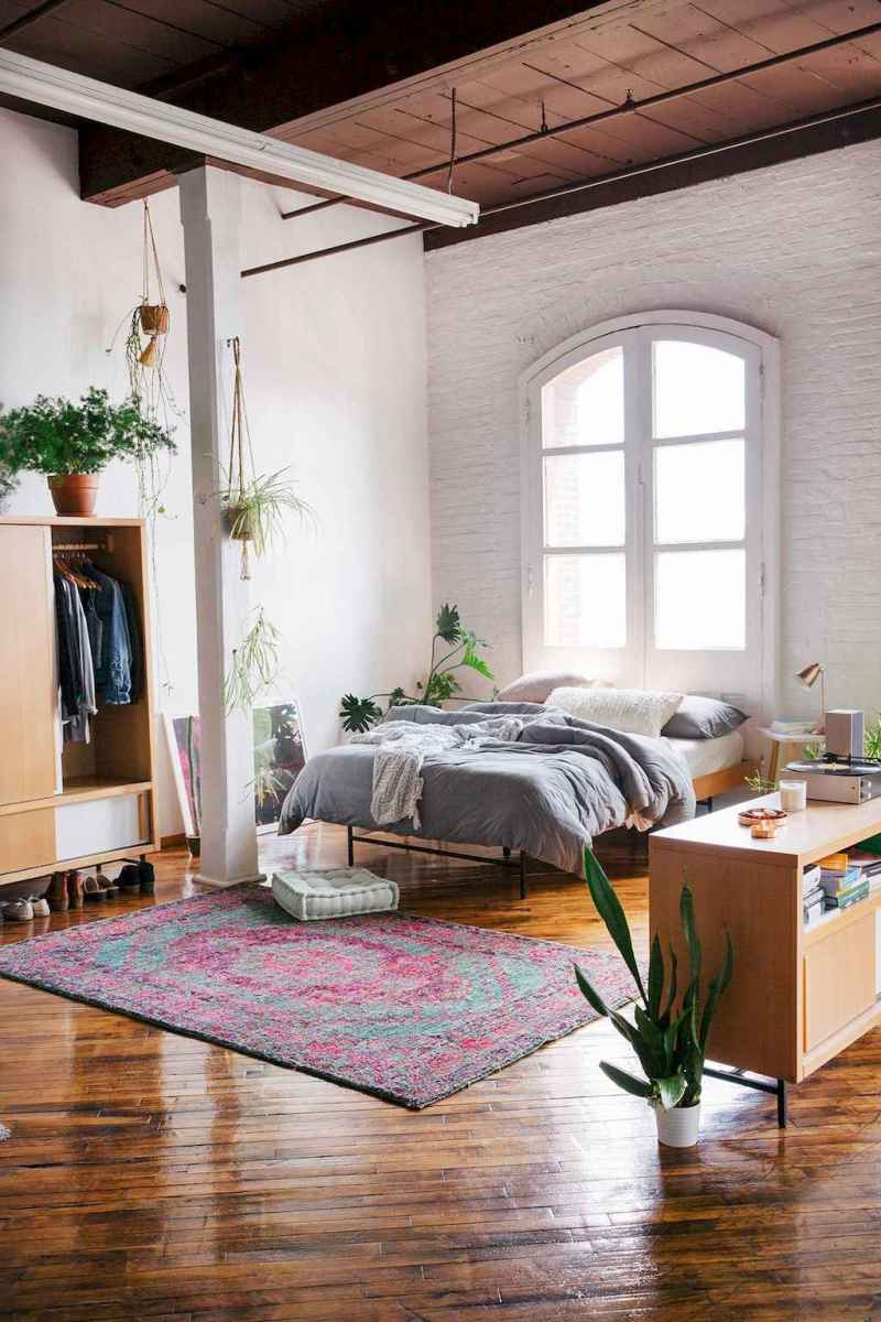 50 Incredible Apartment Bedroom Decor Ideas With Boho Style (19)
