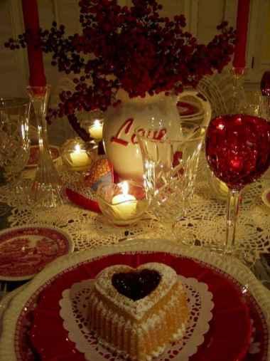 66 Romantic Valentines Table Settings Decor Ideas (11)