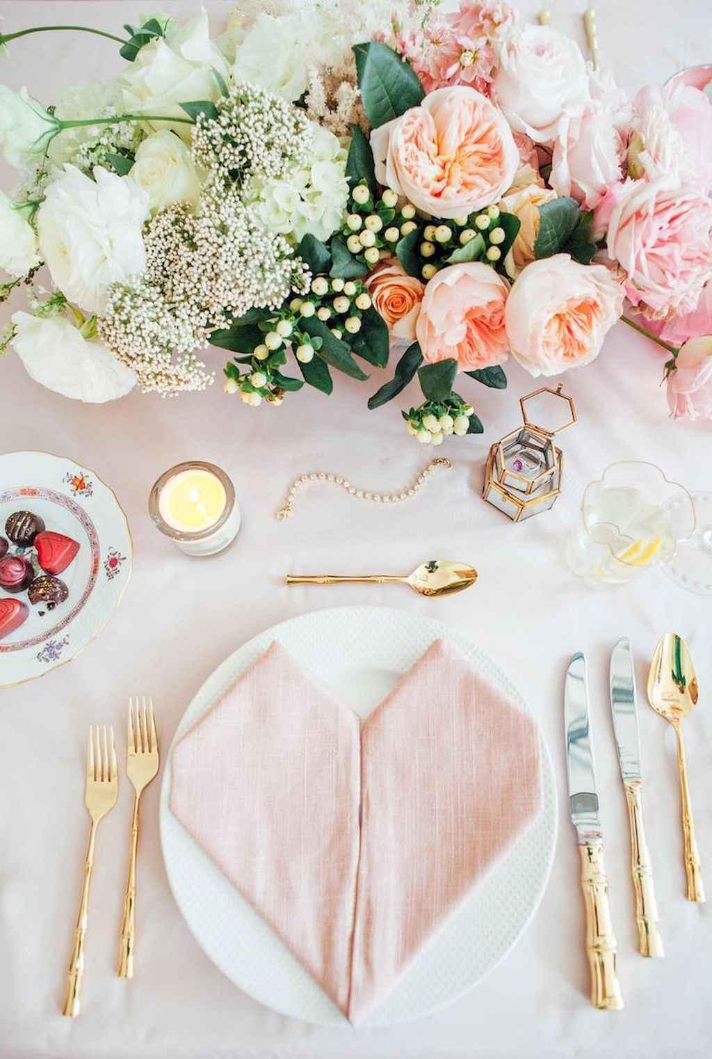 66 Romantic Valentines Table Settings Decor Ideas (13)