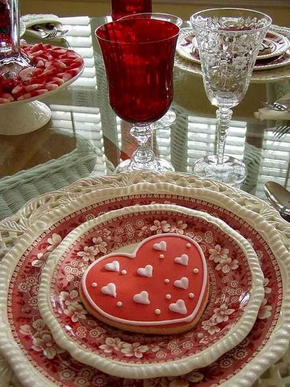 66 Romantic Valentines Table Settings Decor Ideas (15)