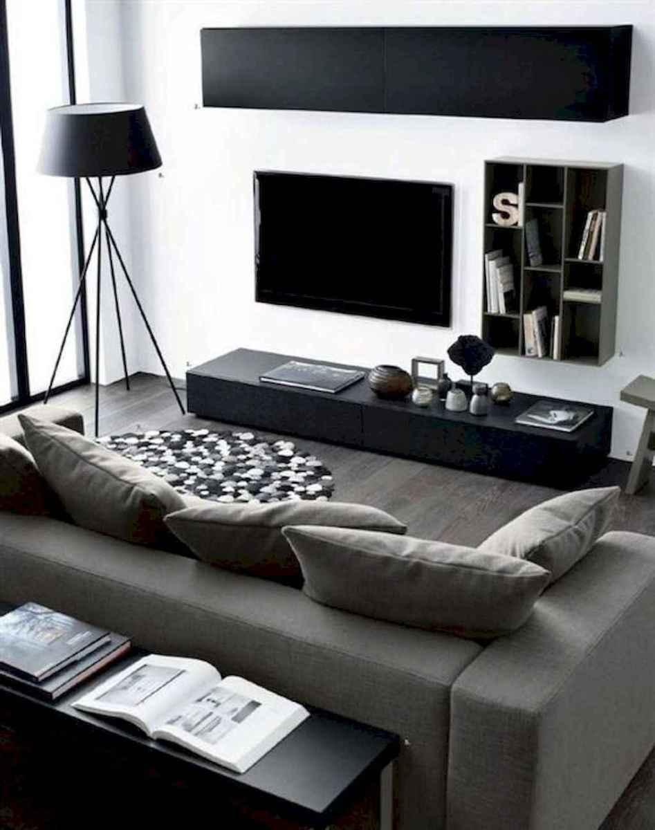 80 Pretty Modern Apartment Living Room Decor Ideas (44)