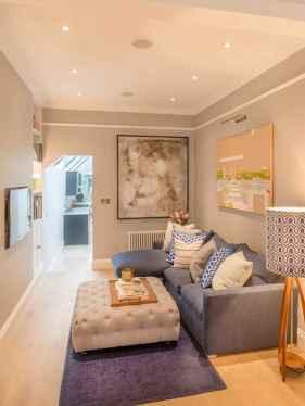 80 Smart Solution Small Apartment Living Room Decor Ideas (41)