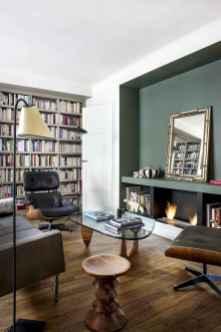 80 Smart Solution Small Apartment Living Room Decor Ideas (51)