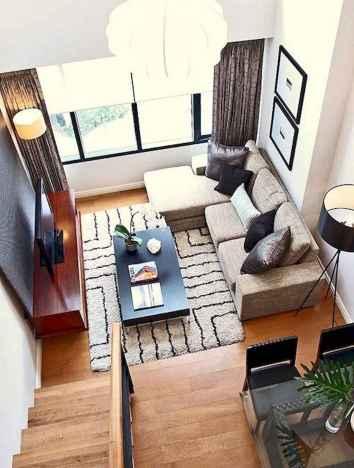 80 Smart Solution Small Apartment Living Room Decor Ideas (65)