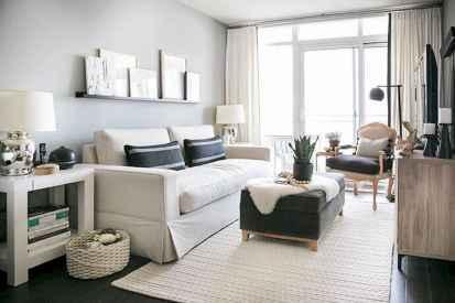 80 Smart Solution Small Apartment Living Room Decor Ideas (77)