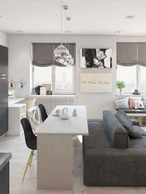 80 Smart Solution Small Apartment Living Room Decor Ideas (81)