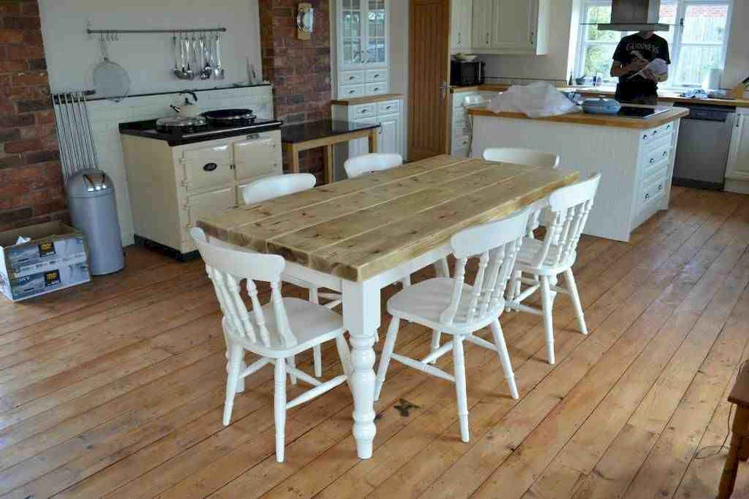 100 Rustic Farmhouse Dining Room Decor Ideas (103)