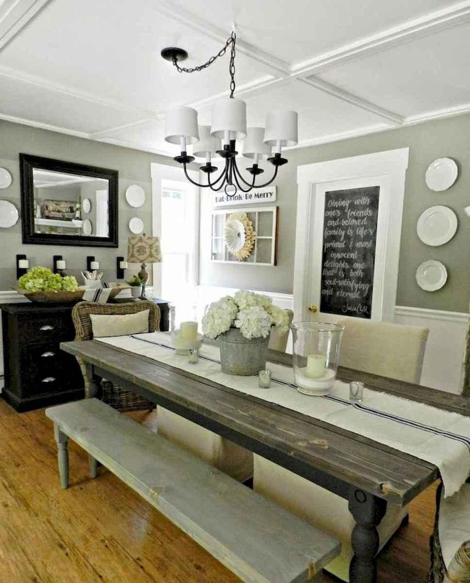 100 Rustic Farmhouse Dining Room Decor Ideas 2
