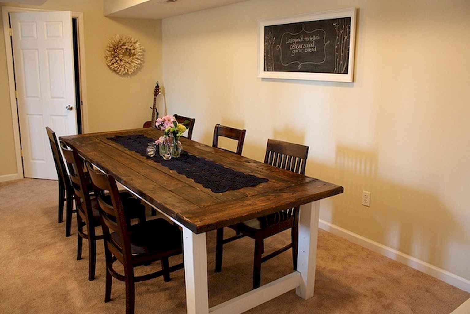 100 Rustic Farmhouse Dining Room Decor Ideas (44)