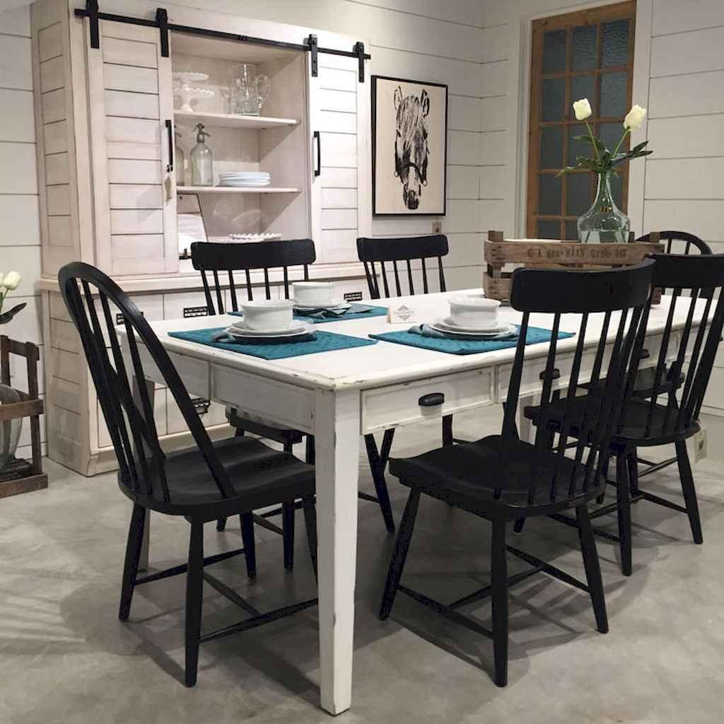 100 Rustic Farmhouse Dining Room Decor Ideas (46)