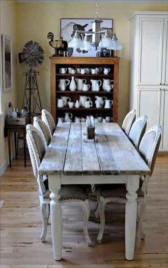100 Rustic Farmhouse Dining Room Decor Ideas (61)